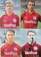 Set of 4 Photo's Hannover 96 1989 with original autograph's