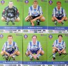 Set of 6 photo's Lech Poznan 2003 football player's (with original autograph's)