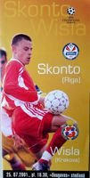 Skonto Riga - Wisla Cracow Champions League qualification match (25.07.2001) programme