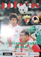 Slavia Prague - AS Roma UEFA Cup official programme (05.03.1996)
