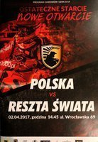 Speedway match Poland - Rest of World (02.04.2017) official programme