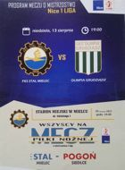 Stal Mielec - Olimpia Grudziadz First League (Poland) (13.08.2017) official programme