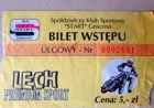 Start Gniezno speedway league old ticket