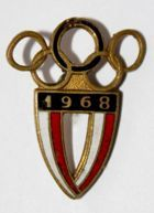 Summer Olympic Games Mexico 1968 Poland team (enamel)