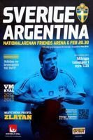 Sweden - Argentina friendly match official programme (06.02.2013)