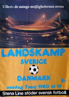 Sweden - Denmark friendly match official programme (07.05.1980)