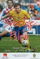 Sweden - Poland qualifying program Euro2004 (11.06.2003)
