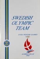 Swedish Olympic Team XVIth Winter Games Albertville 1992