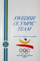 Swedish Olympic Team of the XXV Olympic Games Barcelona 1992