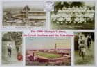 The 1908 Olympic Games, the Great Stadium and the Marathon postcard