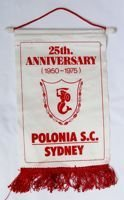 The 25th Anniversary of Polonia SC Sydney 1950-1975 pennant