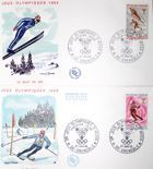 The Envelopes of Winter Olympic Games Grenoble 1968 with FDC stamps (France; set of 2 items)
