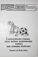 The Journalists Football Tournament in memory of Edward Wozniak (Zamosc, 22-23.01.1988) programme