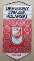 The Lodz District Cycling Association pennant
