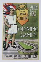 The Official 1908 Olympic Games Poster postcard