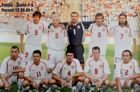 The Poland national football team before friendly match vs Denmark (Poznan, 18.04.2004) photo
