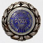 The Polish Cycling Association Tourism badge with silver garland (enamel)