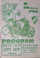 The Speedway Golden Helmet Semifinal official programme (Bydgoszcz, 10.05.1984)