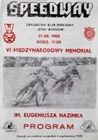 The VI International Speedway Memorial Tribute to Eugeniusz Nazimek (21.08.1988)