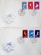 Two Envelopes of Olympic Games Rome 1960 with FDC stamps (Romania)