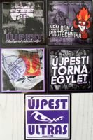 Ujpest TE Budapest supporters stickers (five items)