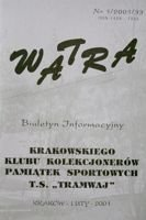 """Watra"" - Bulletin of Sport Collectors Association TS Tramwaj nr 1(33)/2001"