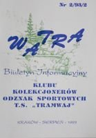 """Watra"" - Bulletin of Sport Collectors Association TS Tramwaj nr 2/1993"