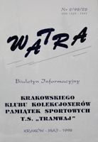 """Watra"" - Bulletin of Sport Collectors Association TS Tramwaj nr 2(22)/1998"