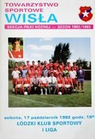 Wisla Cracow - LKS Lodz I league official programme (17.10.1992)