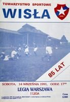 Wisla Cracow - Legia Warsaw I league official programme (14.09.1991)