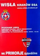 Wisla Cracow - NK Primorje Ajdovscina UEFA Cup match official programme (03.10.2002)
