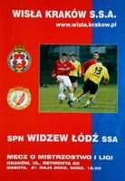 Wisla Cracow - Widzew Lodz I league (31.05.2003) official programme