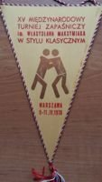 XV International Wrestling Tournament Warsaw 1976 Polish Association of Wrestling  pennant