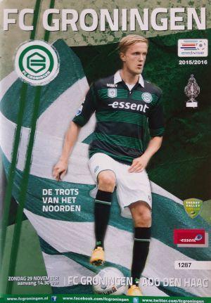 Fc Groningen Ado Den Haag Eredivisie Official Programm 29 11 2015 Football Programmes Domestic Matches