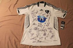 Legia Warsaw original shirt with autographs